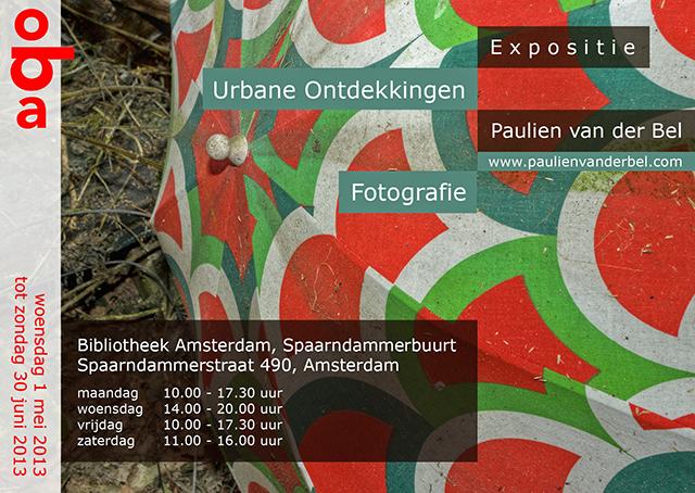 Flyer Expositie Openbare Bibliotheek Amsterdam