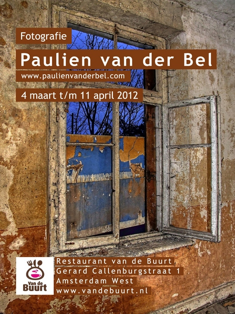 Paulien van der Bel - Flyer Restaurant Van de Buurt  - Flyer made by Henri van Leeuwaarde